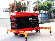 Self Propelled Electric Scissor Lift 12m Platform Hydraulic Motor Driving